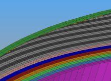 3D Modellierung einer CFK-Struktur mit großer Wandstärke - 3D Modelling of a thick CFRP structure